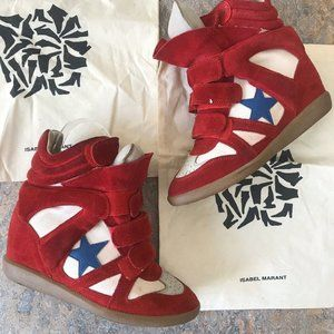 Isabel Marant Bayley Wedge Star Sneakers Shoes
